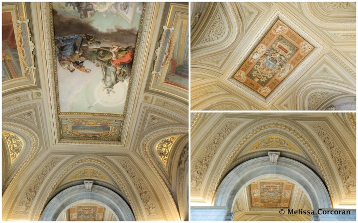 Gallery in the Vatican Museums.