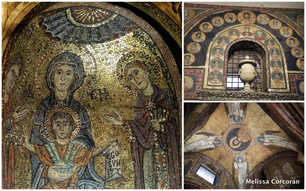 Mosaics in Santa Prassede.