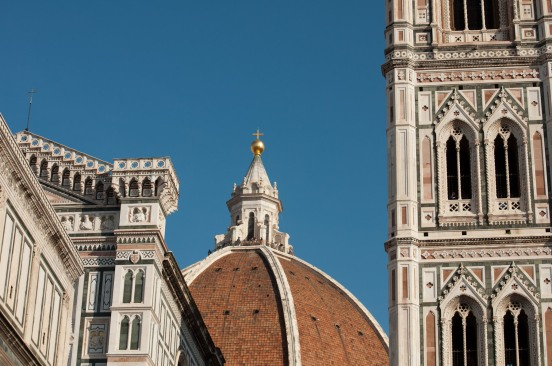 Navigation aids: the dome of the Basilica di Santa Maria del Fiore and Giotto's Campanile.