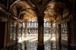 A watery passageway in Venice.