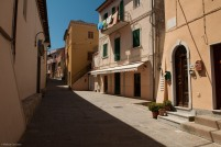 A street in Capoliveri, quiet in the post-lunch period.