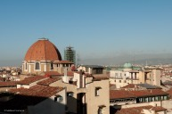 A view from the north terrace. On the left, the Basilica di San Lorenzo.