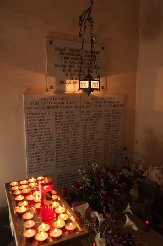 Memorial in the chapel.