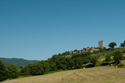 Porciano and the Castello di Porciano.