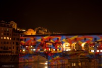 Bonus: seeing a light show playing on the buildings on the Ponte Vecchio.