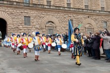 The start of the Procession of the Magi on the Feast of the Epiphany, with the Palazzo Pitti in the background. It was the most spectacular parade I've seen yet here.