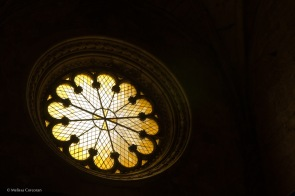 A rose window.