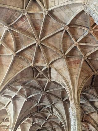 The ceiling of the choir loft.