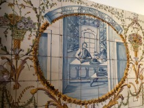 One of seven panels illustrating the true story of a hat maker.