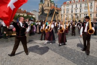 Dance troupe from Switzerland with alphorns.