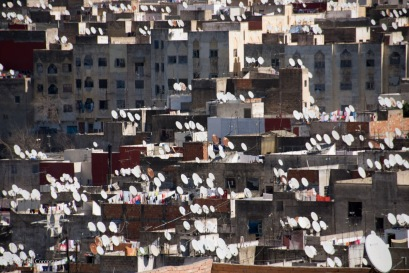 I would never have seen this forest of satellite dishes in Fez if I hadn't been on a rooftop.