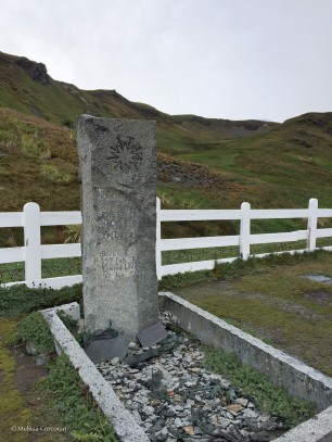The grave of Sir Ernest Shackleton, Grytviken, South Georgia Island.
