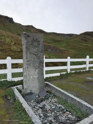 The grave of Sir Ernest Shackleton, Grytviken, South Georgia Island.