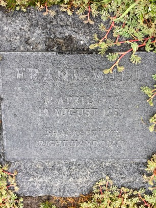 Frank Wild was Shackleton's second-in-command on the expedition. His ashes were interred next to Shackleton's grave in 2011, 72 years after his death. They were discovered in a vault in South Africa by an author researching a book about Wild.