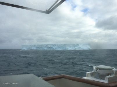 A view from the bridge as we sail towards the Antarctic peninsula.