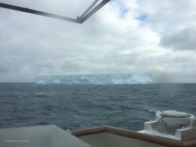 A view from the bridge as we sail towards the Antarctic peninsula.