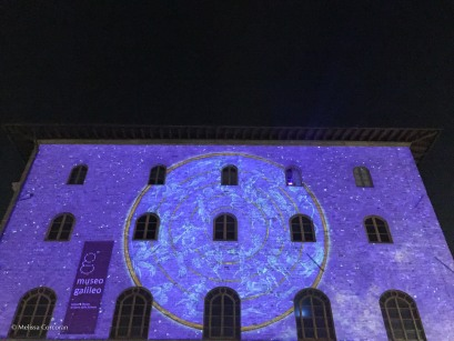 One of the installations was on the facade of the Museo Galileo.