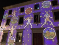 Images were also projected on the facade of the building opposite the museum.